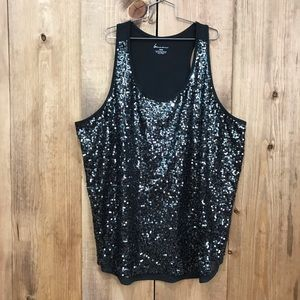 Lane Bryant sequined top 26/28